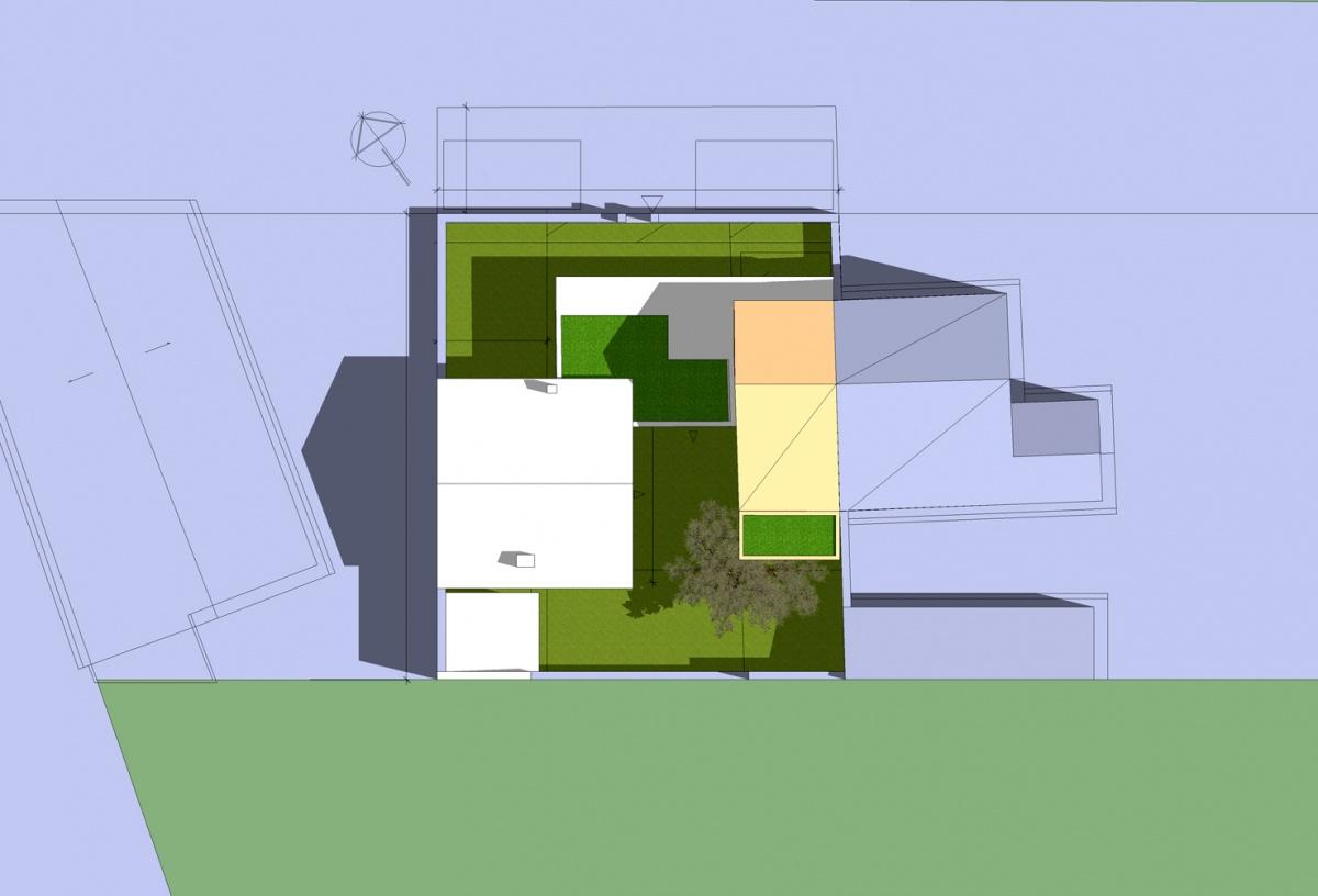 Extension d'une maison de ville : Solution 1