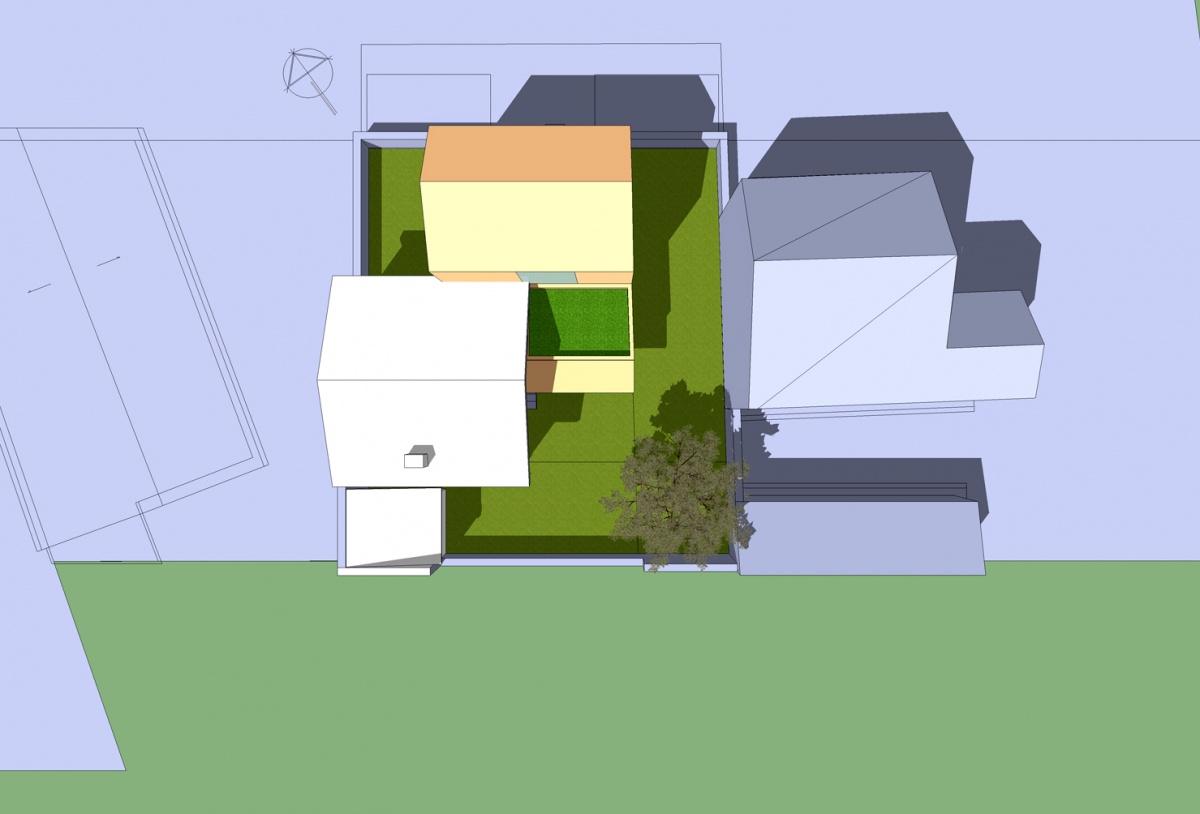 Extension d'une maison de ville : Solution 2