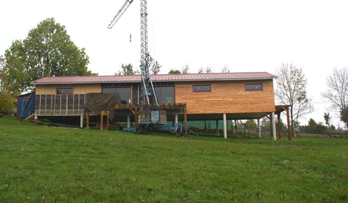 Maison bois sur pilotis : 12_Maison sur pilotis_chantier.JPG