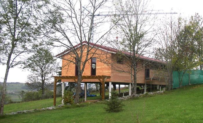 Maison bois sur pilotis : 16_Maison sur pilotis_chantier.JPG