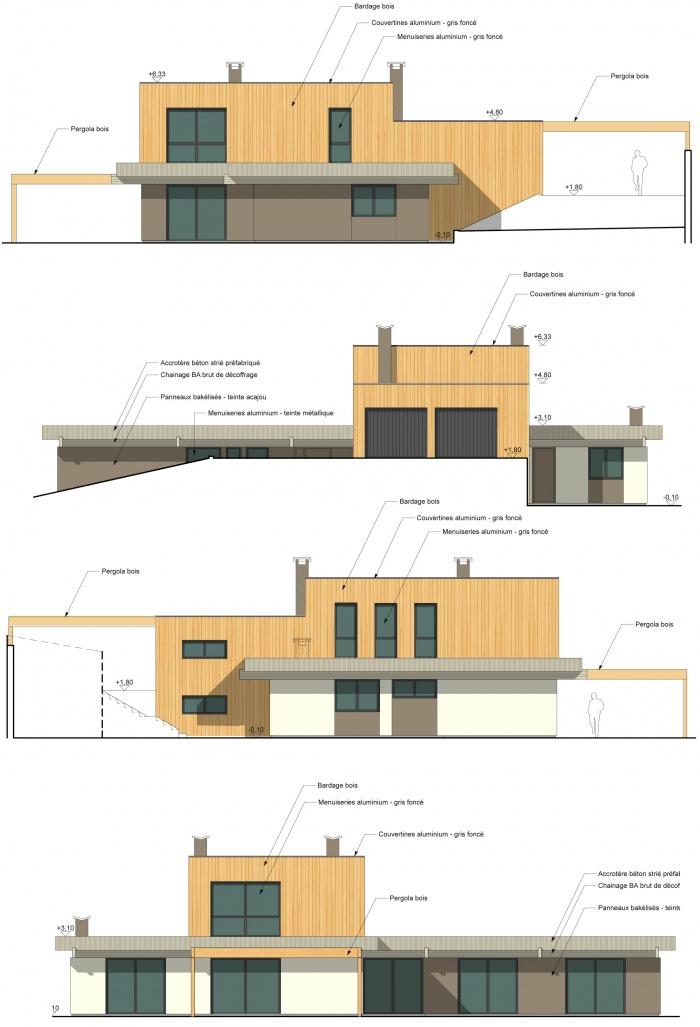 Surélévation d'une maison à toit plat : Copie de Dumont facades