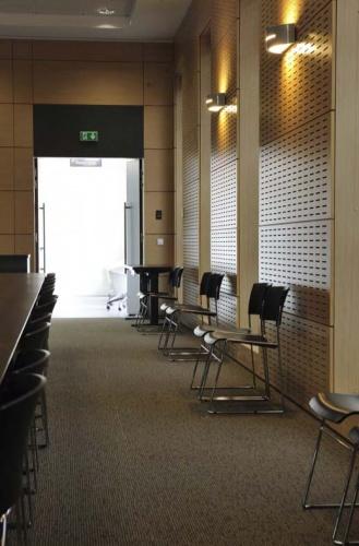 CRCI- Chambre Régionale de Commerce et d'Industrie  Rhône-Alpes-Aménagement du nouveau siège à la Confluence. : Aperçu salle d'assemblée