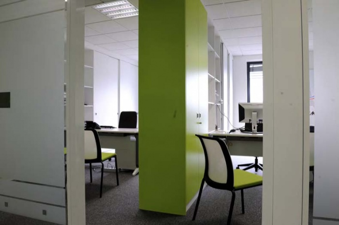 CRCI- Chambre Régionale de Commerce et d'Industrie  Rhône-Alpes-Aménagement du nouveau siège à la Confluence. : perpective sur plateau bureaux