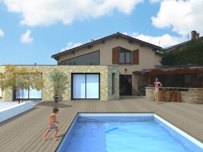 extension maison individuelle ain une r alisation de phb architecture. Black Bedroom Furniture Sets. Home Design Ideas
