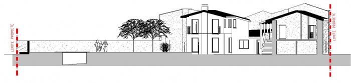 Extension d'une ancienne ferme traditionnelle : plan façade