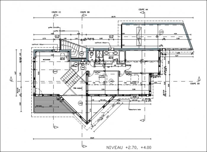 Maison individuelle ossature bois : plan