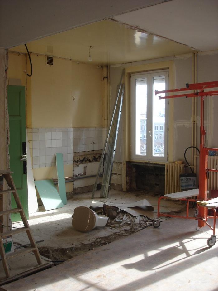 Rénovation d'un appartement : Cuisine avant travaux