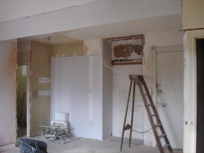 Rénovation d'un appartement : sejour avant travaux