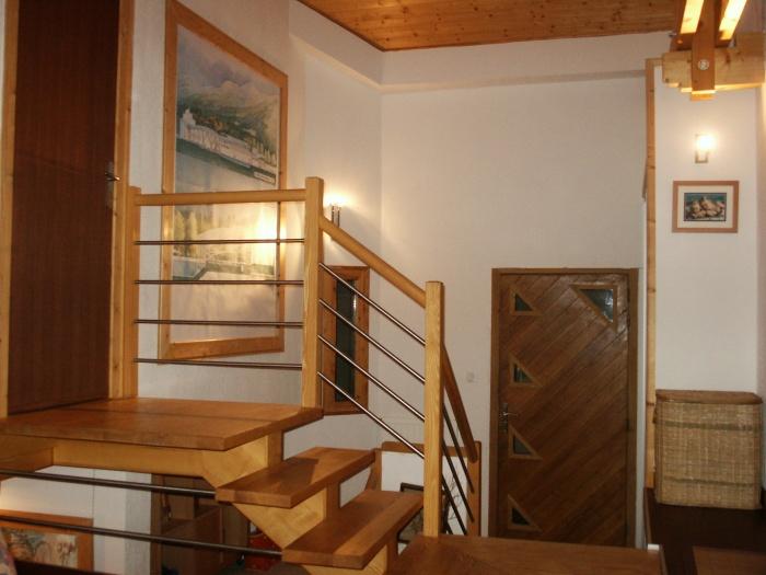 Maison individuelle ossature bois : entrée