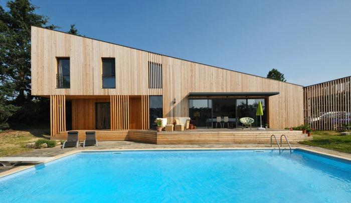 Maison contemporaine bois & ouate de cellulose / Basse énergie : image_projet_mini_61690
