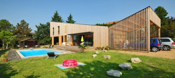 Maison contemporaine bois & ouate de cellulose / Basse énergie : 01_PARA
