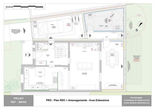 MKNG - Extension et Rénovation d'une Maison Individuelle : mkng_arch_lyon_06