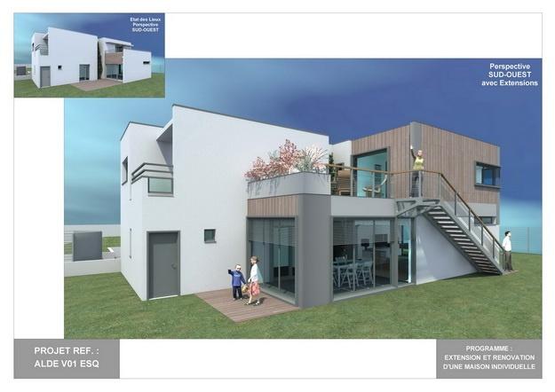 ALDE - V01 - Extension et Rénovation d'une Maison Individuelle