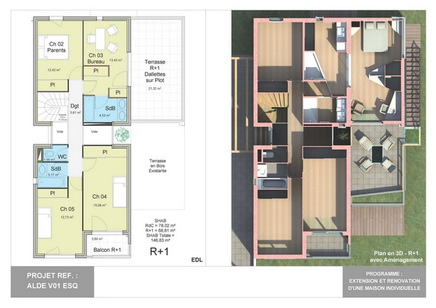 ALDE - V01 - Extension et Rénovation d'une Maison Individuelle : alde_v01_esq_05