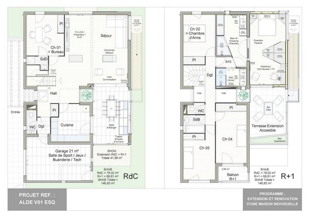 ALDE - V01 - Extension et Rénovation d'une Maison Individuelle : alde_v01_esq_15