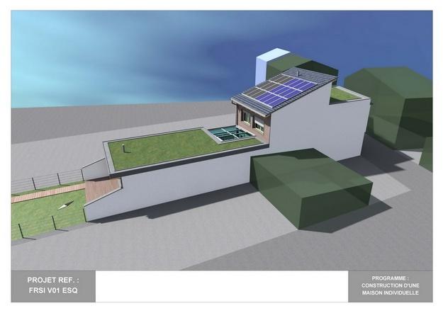 RDC - V01 - Maison Bio-Climatique avec Patio : frsi_v01_esq_02
