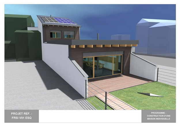 RDC - V01 - Maison Bio-Climatique avec Patio : frsi_v01_esq_03
