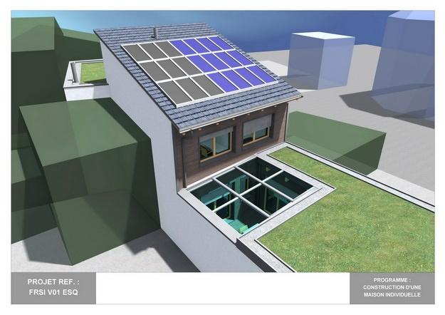 RDC - V01 - Maison Bio-Climatique avec Patio