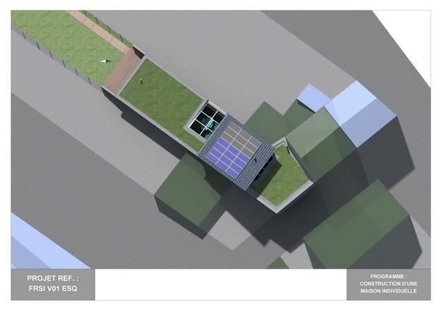 RDC - V01 - Maison Bio-Climatique avec Patio : frsi_v01_esq_06