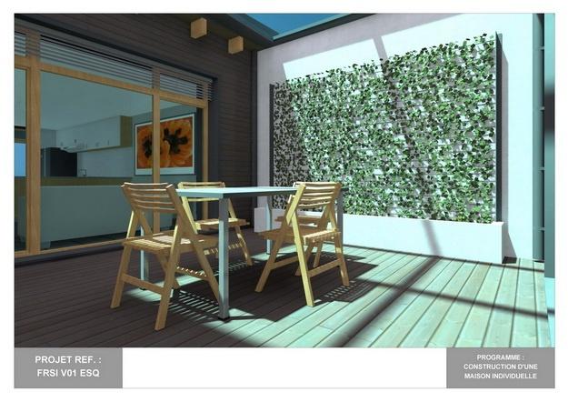 RDC - V01 - Maison Bio-Climatique avec Patio : frsi_v01_esq_14