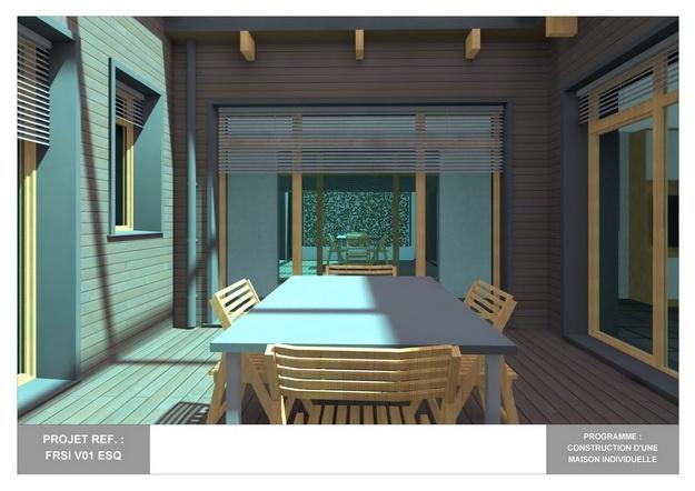 RDC - V01 - Maison Bio-Climatique avec Patio : frsi_v01_esq_15