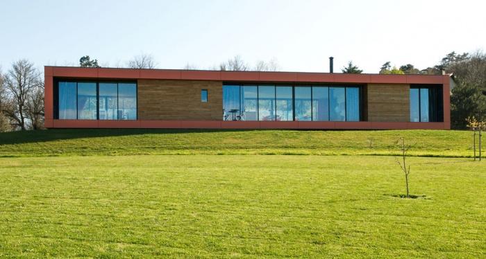 Maison contemporaine bois & paille : Maison GALLET ARCHITECTES_03