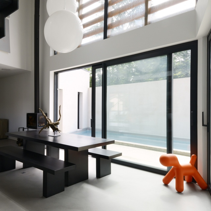 maison contemporaine Lyon 5ème : espace repas maison contemporaine