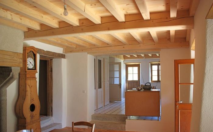 Restauration maison Javogue : Aménagement intérieur traditionnel