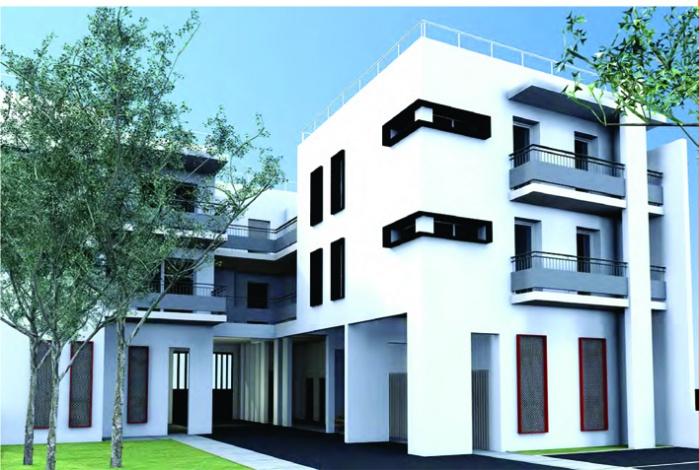 Création de 12 logements : vue arrière