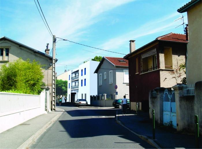 Création de 12 logements : sur rue