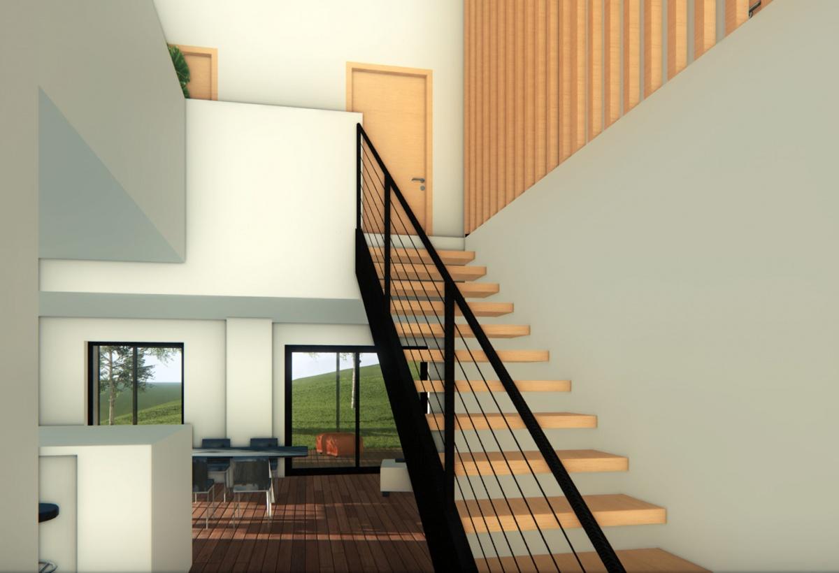 Maison passive : Hall d'entrée
