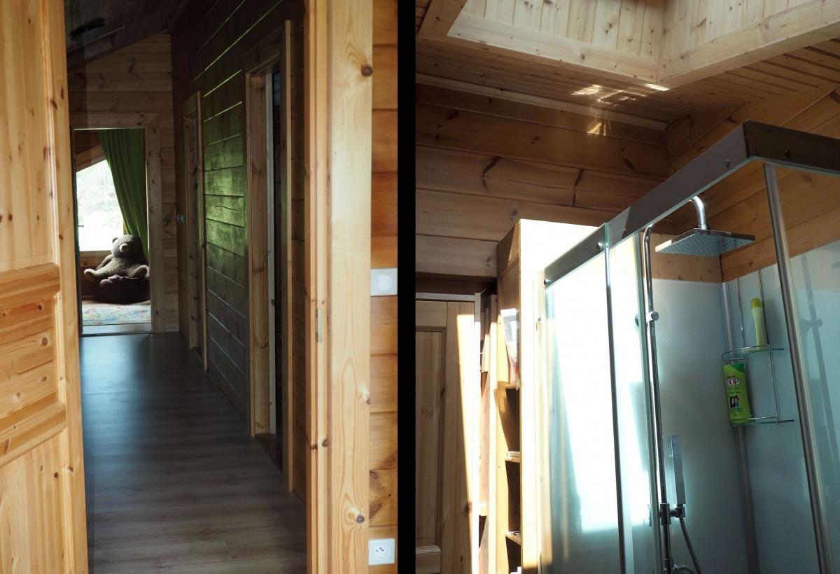 Maison en madriers bois : Etage